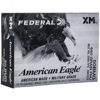 FED AM EAGLE 50BMG 660GR FMJ 10/100